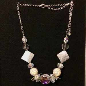 Jewelry - Ice Princess Necklace in shades of Aurora & Silver